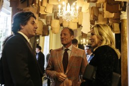 Event Party : WASHINGTON, DC - MAY 14: Anthony Peck (C) and wife Paula (R) attend Savile Row Bespoke and America at the British Ambassador's Residence on May 14, 2015 in Washington, DC. (Photo by Greg Kahn/Getty Images for The British Embassy)