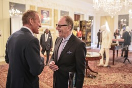 Event Party : ASHINGTON, DC - MAY 14: Actor and writer Anthony Peck (R) and Tailor Stephen Lachter, (L) attend Savile Row Bespoke and America at the British Ambassador's Residence on May 14, 2015 in Washington, DC. (Photo by Greg Kahn/Getty Images for The British Embassy)