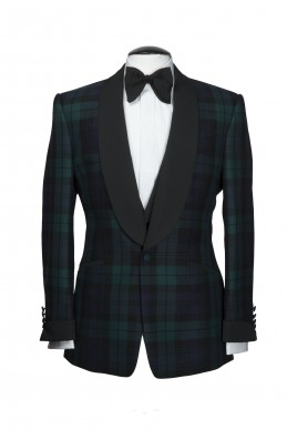 Clothing Shots : Savile Row and America - Lutwyche - Green check jacket Tartan