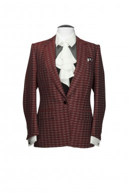 Clothing Shots : Savile Row and America - Kathryn Sargent - Red tweed AJ Courtenay jacket