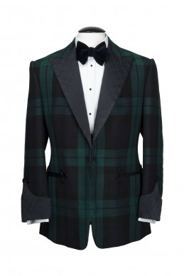 Clothing Shots : Savile Row and America- Meyer & Motimer- Black watch tartan two piece suit