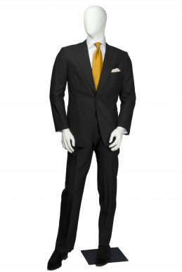 Clothing Shots : Savile Row and America- Maurice Sedwell- Purple/Black Stripe Two piece suit replica,  Samuel L Jackson