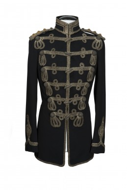 Clothing Shots : Savile Row and America - Welsh & Jefferies - Black (embroidered) military jacket